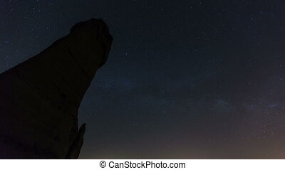star time lapse - milky way love valley at Cappadocia Turkey...