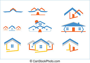 many logos of home or hourse -  home and house illustration
