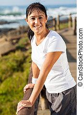 active middle aged woman portrait