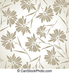 Seamless designer floral wallpaper
