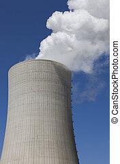 Schornstein - Wolke,Qualm,Rauch,Industrie,Klima
