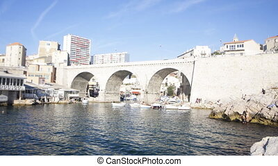 boat, bridge, bright, coast, cruise, famous, france, french...