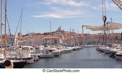 view of marseille's vieux port, france