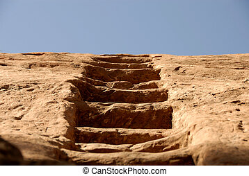 Carved Sandstone Stairway - An Old Carved Stairway in the...
