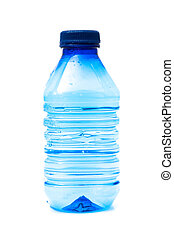 water bottle on a white background