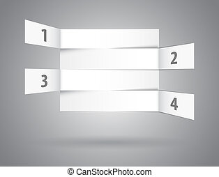 White abstract numbered rows in perspective Vector...