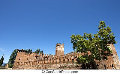 Castelvecchio Verona - Italy 1357 - Medieval Old castle...