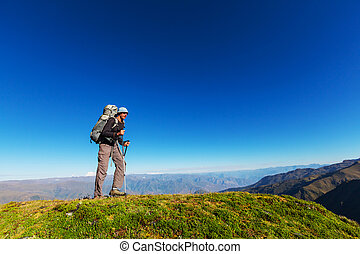 Hike -  hiking in  mountains