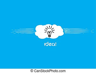 Idea on the blue background