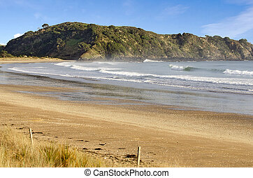 Landscape view of Taipa Bay in Northland New Zealand