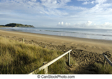 Taipa Bay - New Zealand - Landscape view of Taipa Bay in...