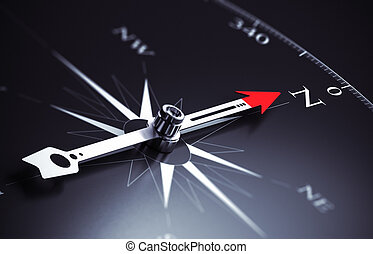 Business Consulting Concept - Compass needle pointing to...