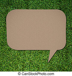talk quote on Green grass background