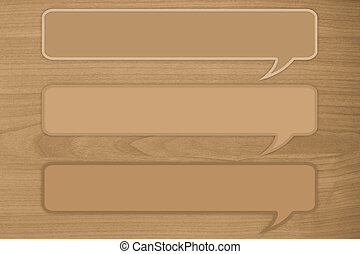 3 quote text on brown wooden background