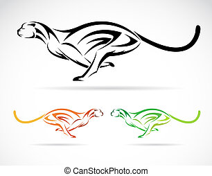 Vector image of an dog tiger cheetah on white background