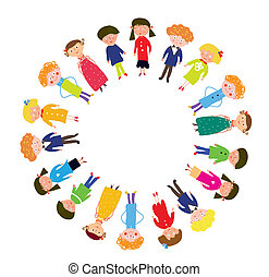 Kids in the circle funny cartoon