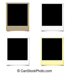 4 blank photo frame on isolated background