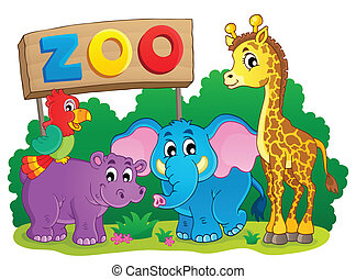 Cute African animals theme image 6 - eps10 vector...