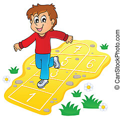 Kids play theme image 8 - eps10 vector illustration