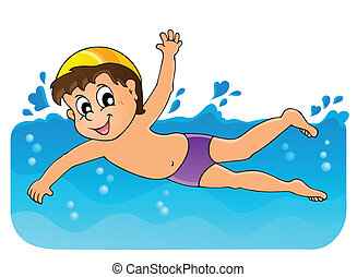 Swimming theme image 3 - eps10 vector illustration
