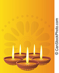 diwali - computer generated illustration dedicated at the...