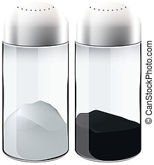 salt and pepper shakers two isolated object eps 10