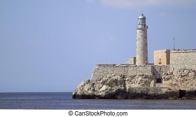Havana, lighthouse, castle, sea - Cuban monuments and...