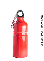 Red Sports Bottle - Red metal resusable, environment...