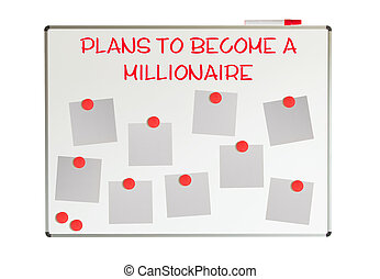 How to become a millionaire with empty papers and magnets on...