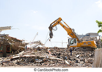 demolition - Demolition of an old building