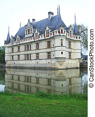 Chateau at Azay le Rideau Loire Valley in France