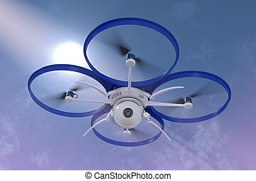 Police Surveillance Drone - 3D render of a small police...