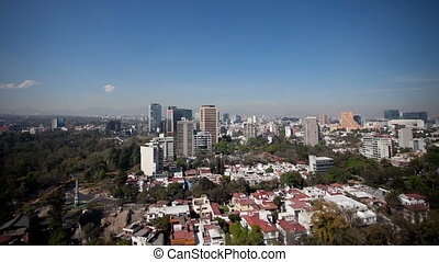 a time-lapse of the mexico city skyline (polanco district)