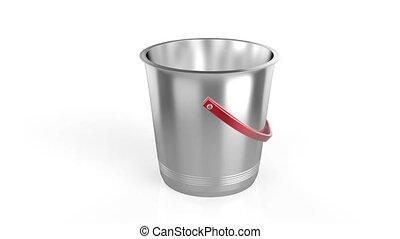 Empty ice bucket on white background