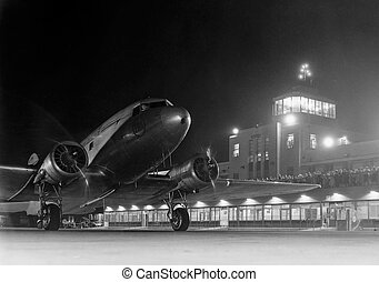 Airport at Night 1944