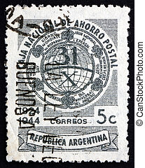 Postage stamp Argentina 1944 Allegory of Savings - ARGENTINA...