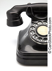 phone retro bakelite fact on white fund