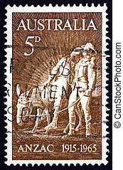 Postage stamp Australia 1963 Simpson and his Donkey -...