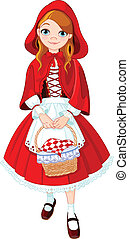 Little red riding hood - Illustration of little red riding...
