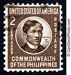 Postage stamp Philippines 1946 Jose Rizal, National Hero -...