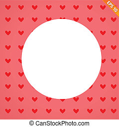 A seamless background of hearts on background - Vector...