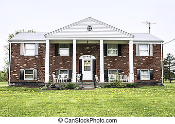 Brick Raised Ranch - Big brick raised ranch style home with...