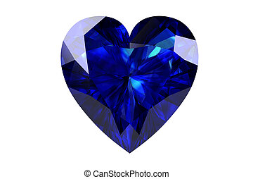 blue sapphire on white background