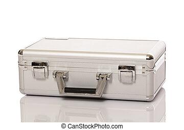 Metallic suitcase