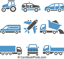 Transport Icons - A set of twelfth Vector illustrations, set...