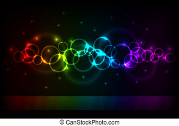 Vertical color circles background with copy space.