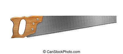 Saw - Crosscut saw isolated on white