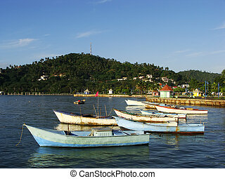 Old boats at Samana port