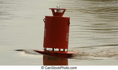 Buoy in the river