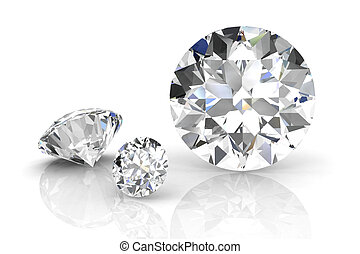 diamond jewel on white background. High quality 3d render -...